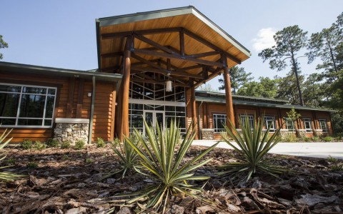 Interior and Exterior photography of the Austin Cary Learning Center.